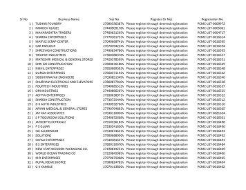 List of Register Vendors