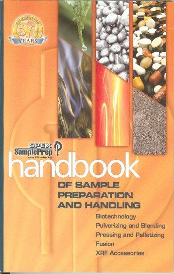 2005 Handbook of Sample Prep & Handling - SPEX Speaker