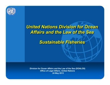 Sustainable fisheries 2013 for distribution