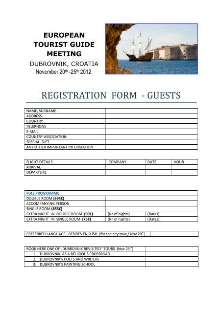 Croatia! World federation of tourist guide associations.