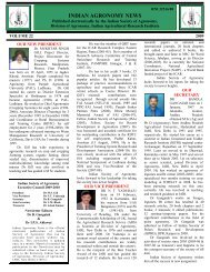 INDIAN AGRONOMY NEWS - Indian Society of Agronomy
