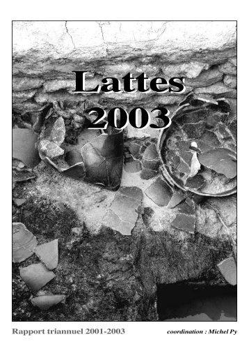 Rapport triannuel 2001-2003 - Lattara