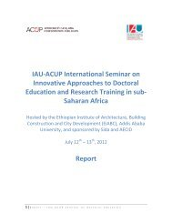 IAU-ACUP International Seminar on Innovative Approaches to ...