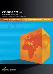 HigHer education governance reforms across europe