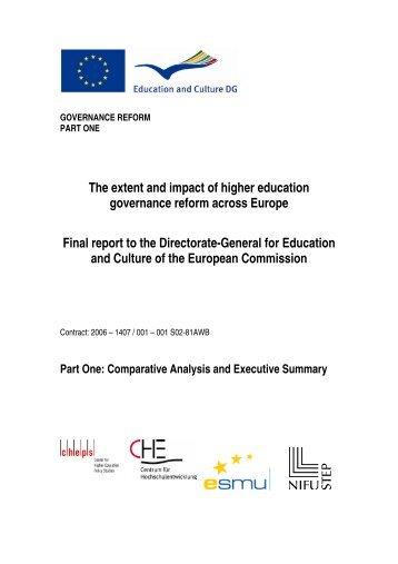 Comparative Analysis and Executive Summary - European ...