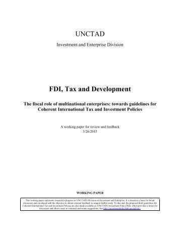 FDI, Tax and Development