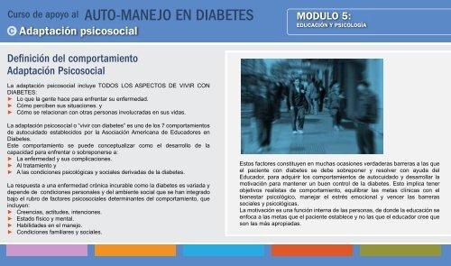 vivir bien con diabetes libro de autocuidado