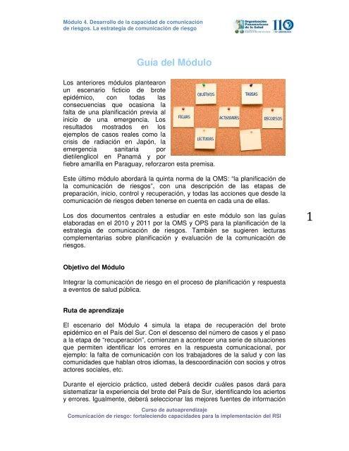 Módulo Aula Virtual Regional Campus Virtual De Salud Pública