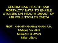 generating health and mortality data to enable studies on healt