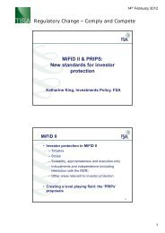MiFID II & PRIPS: New standards for investor protection - TISA