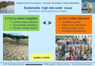 Sustainable high rate water reuse - Aquatechtrade