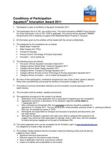 AIA_ConditionsofParticipation2011 - Aquatechtrade