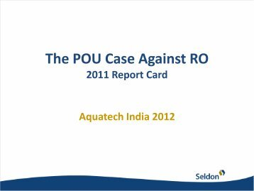 The POU Case Against RO - Aquatechtrade