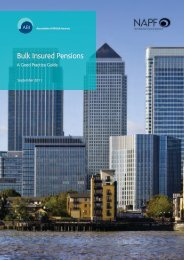 Bulk Insured Pensions - A Good Practice Guide - NAPF