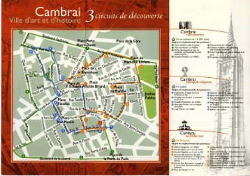 Circuits de découverte - Ville de Cambrai.com