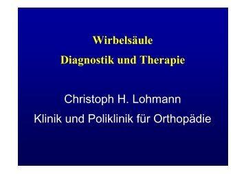 Wirbelsäule Diagnostik und Therapie Christoph H ... - fsrmed.de