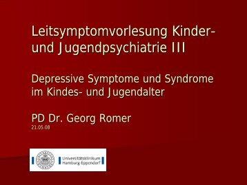 Leitsymptomvorlesung Kinder- und Jugendpsychiatrie III