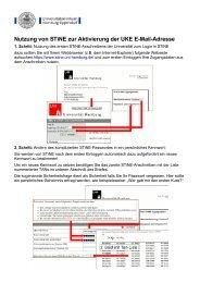 Nutzung von STiNE zur Aktivierung der UKE E-Mail-Adresse
