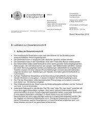 B. Leitfaden zur Dissertationsschrift - Universitätsklinikum Hamburg ...