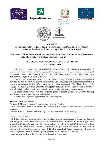 Pettorano sul polimi cooperation for Master polimi
