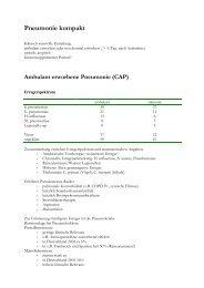 Pneumonie kompakt