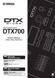 DTX700 Owner's Manual - American Musical Supply