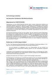 Aufnahmegrundsätze - Der Paritätische Landesverband Schleswig ...
