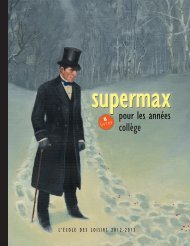 Supermax - L'Ecole des loisirs