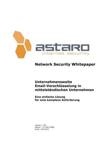 Astaro V7 und Emailsignatur