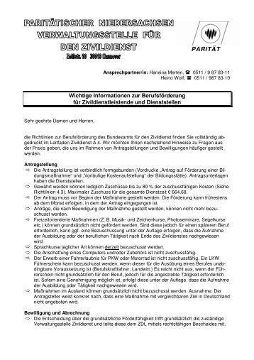 (Berufsf\366derung Merkblatt) - Paritaetischer-freiwillige.de