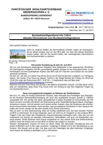 Info 13-07 - Paritaetischer-freiwillige.de