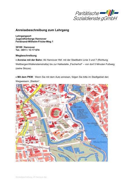 Anreisebeschreibung zum Lehrgang - Paritaetischer-freiwillige.de