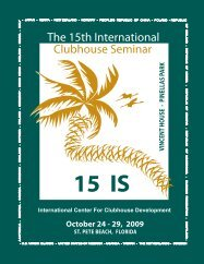 Download the Program - International Center for Clubhouse ...