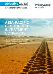 Get brochure - Objective Capital Investment Conferences