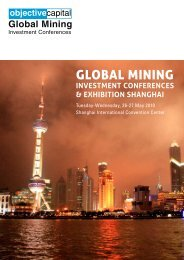 Global Mining Investment Conference Shanghai - Objective Capital ...