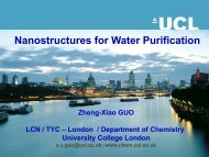 Porous nanostructures for water purification - Department of Civil ...