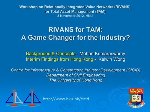 RIVANS for TAM - Department of Civil Engineering - The