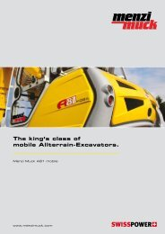 The king's class of mobile Allterrain-Excavators.