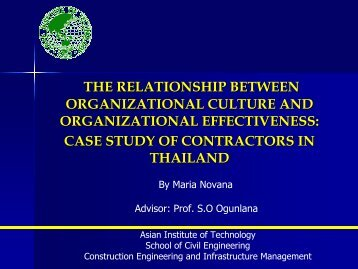 the relationship between organizational culture and organizational ...
