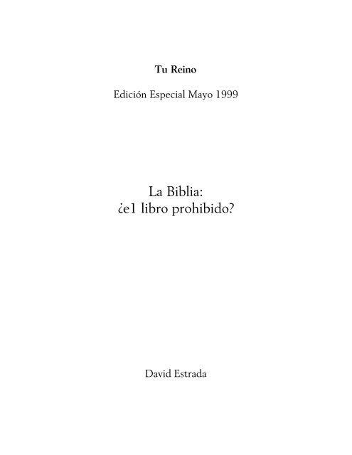 Biblia EL LIBRO PROHIBIDO.pdf