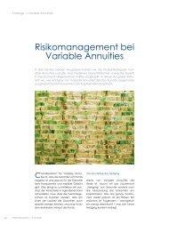 Risikomanagement bei Variable Annuities - Institut für Finanz