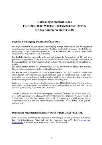 Sommersemester 2009 - Alfred-Weber-Institut für ...