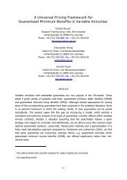 A Universal Pricing Framework for Guaranteed ... - Institut für Finanz
