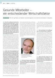 Gesunde Mitarbeiter – ein entscheidender ... - Rationelle.de