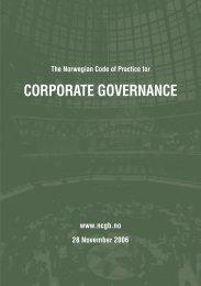 Norwegian Code of Practice for Corporate Governance ... - NUES