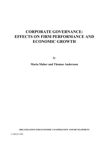 Effects on Firm Performance and Economic Growth - OECD