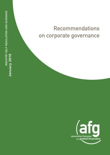 Recommendations for corporate governance - European Corporate ...
