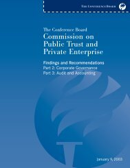 The Conference Board Commission on Public Trust and Private ...