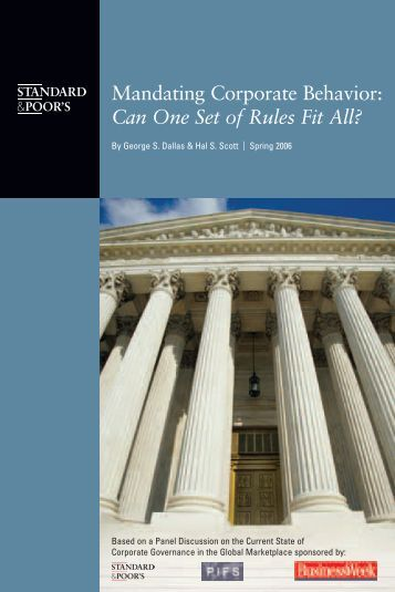 Can One Set of Rules Fit All? - European Corporate Governance ...