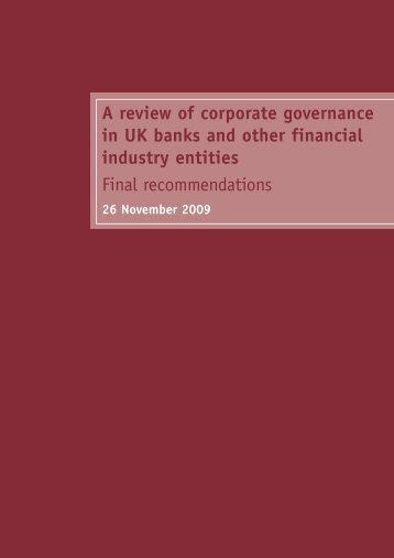 A review of corporate governance in UK banks and other financial ...